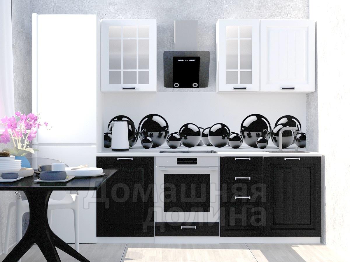 Кухня прямая Сура Прага Белое дерево/венге 2800   900x1200